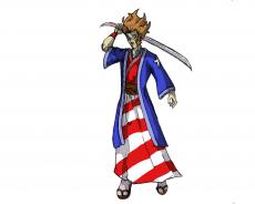 Dessin American Samourai de Flux