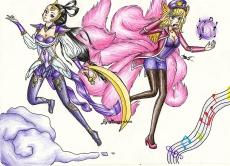 Dessin Diana and Ahri   Fanart de Mougachan