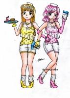Dessin Maid café girl 3 de Mougachan