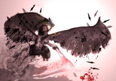 Dessin Ange noire de Skyrihell