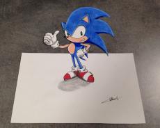 Dessin Sonic de Louiz