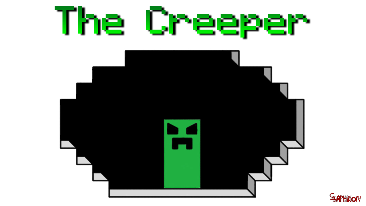 Dessin The creeper Minecraft de SsaphirionDESIGN