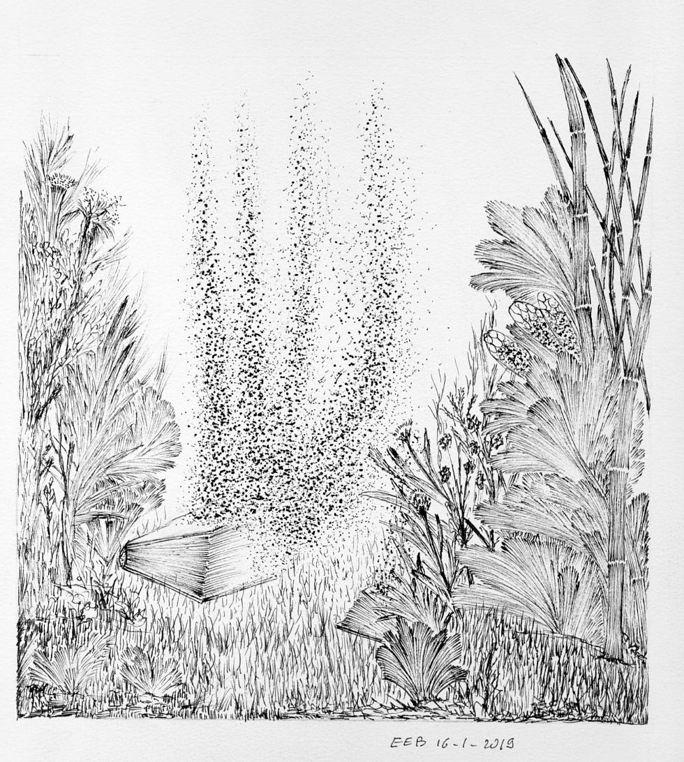 Dessin Le livre aux abeilles de EEB
