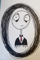 Dessin Personnage style Tim Burton de Yuryehu