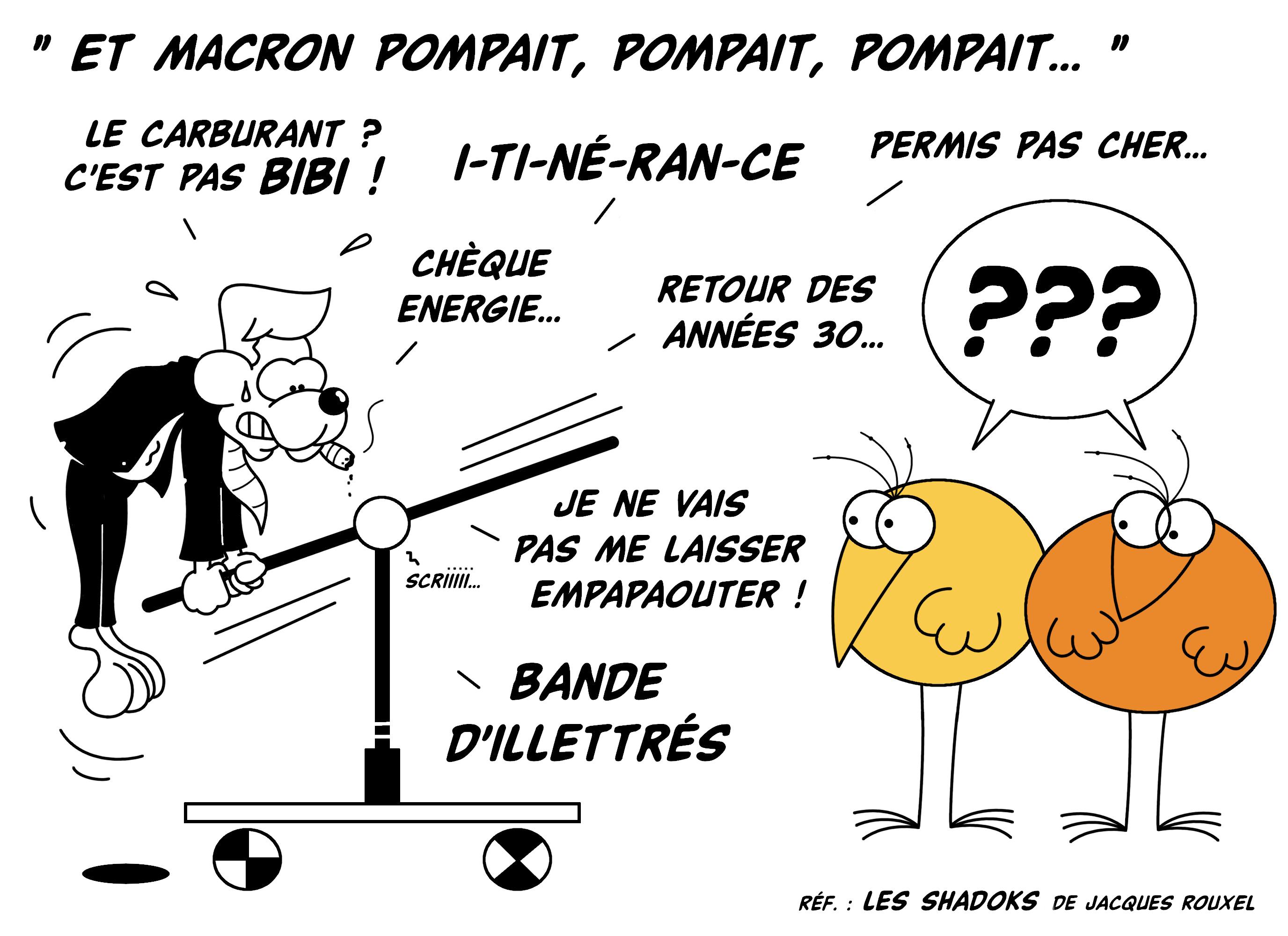 Dessin Et Macron pompait... de Chag