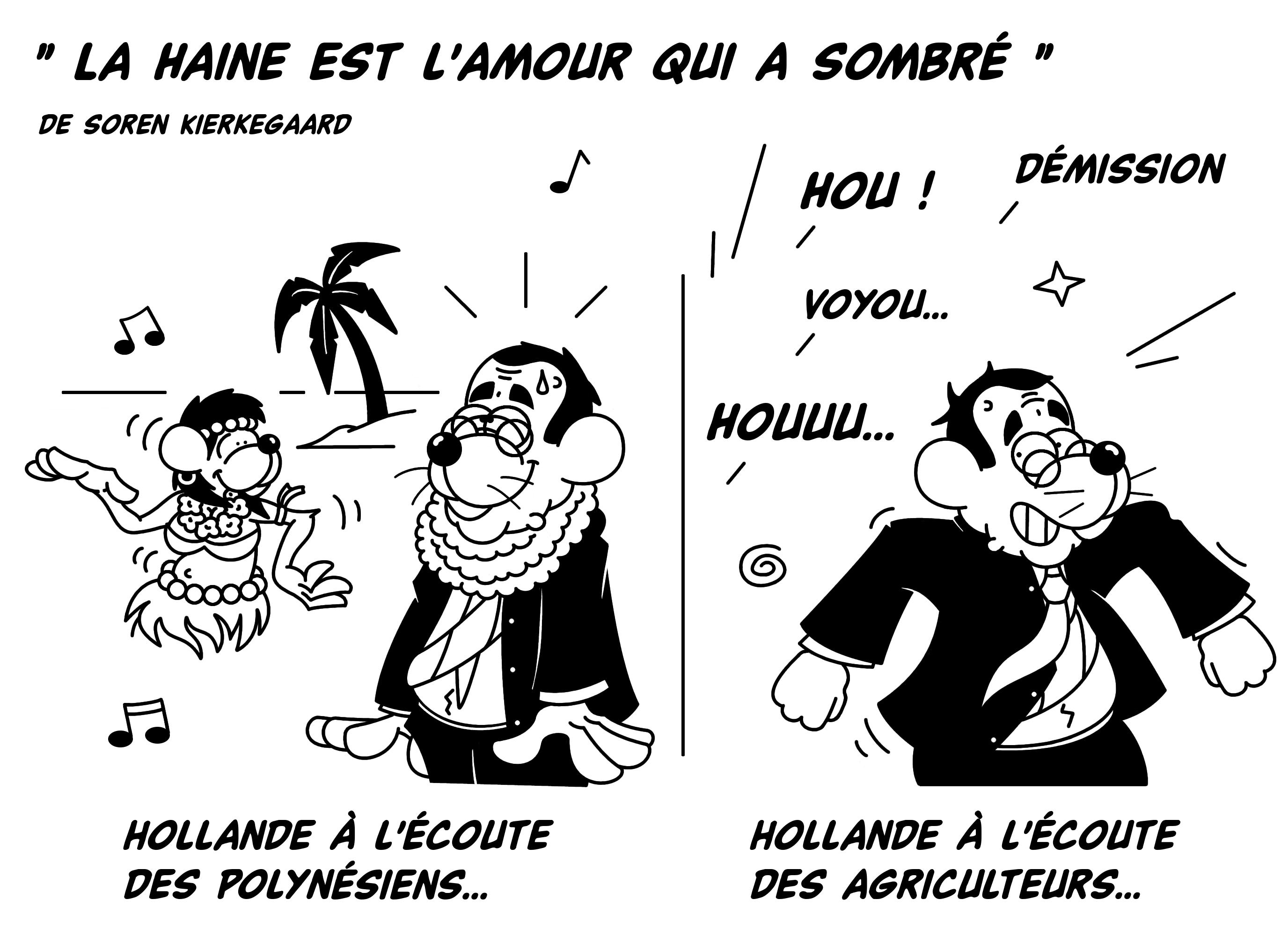 Dessin Hollande, de l'amour à la haine de Chag