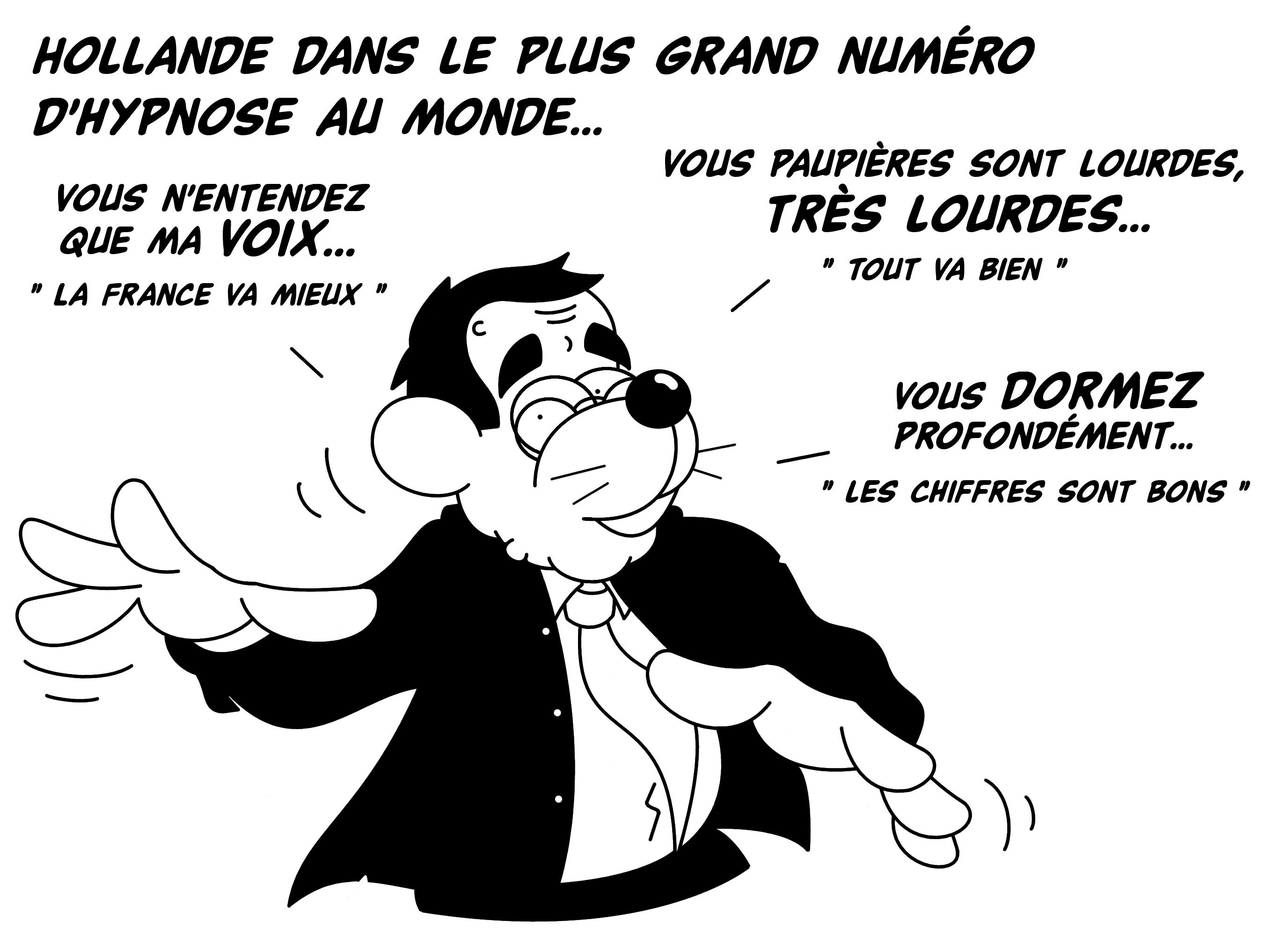 Dessin Hollande l'hypnotiseur de Chag