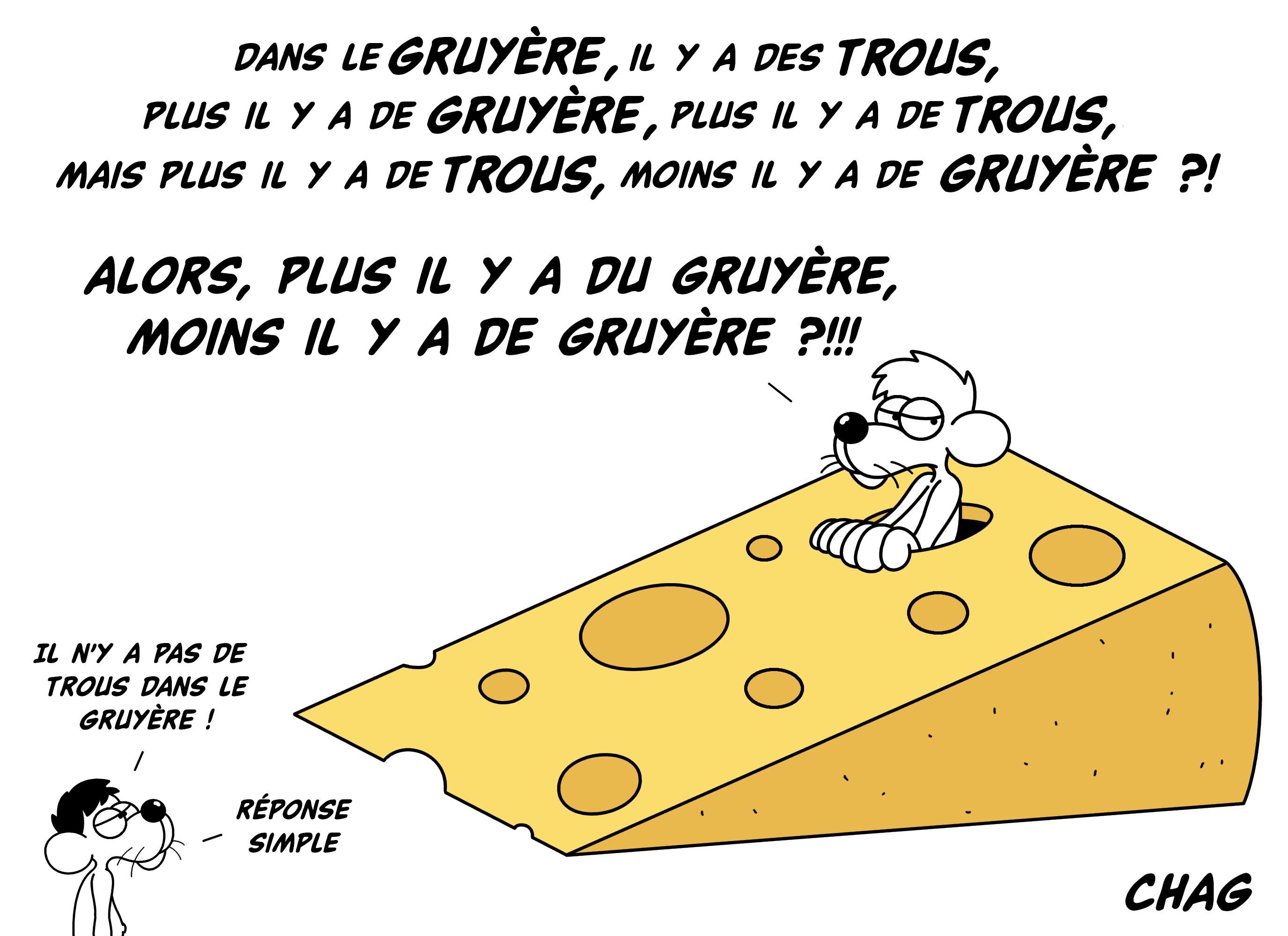 Dessin Le paradoxe du fromage à trous de Chag