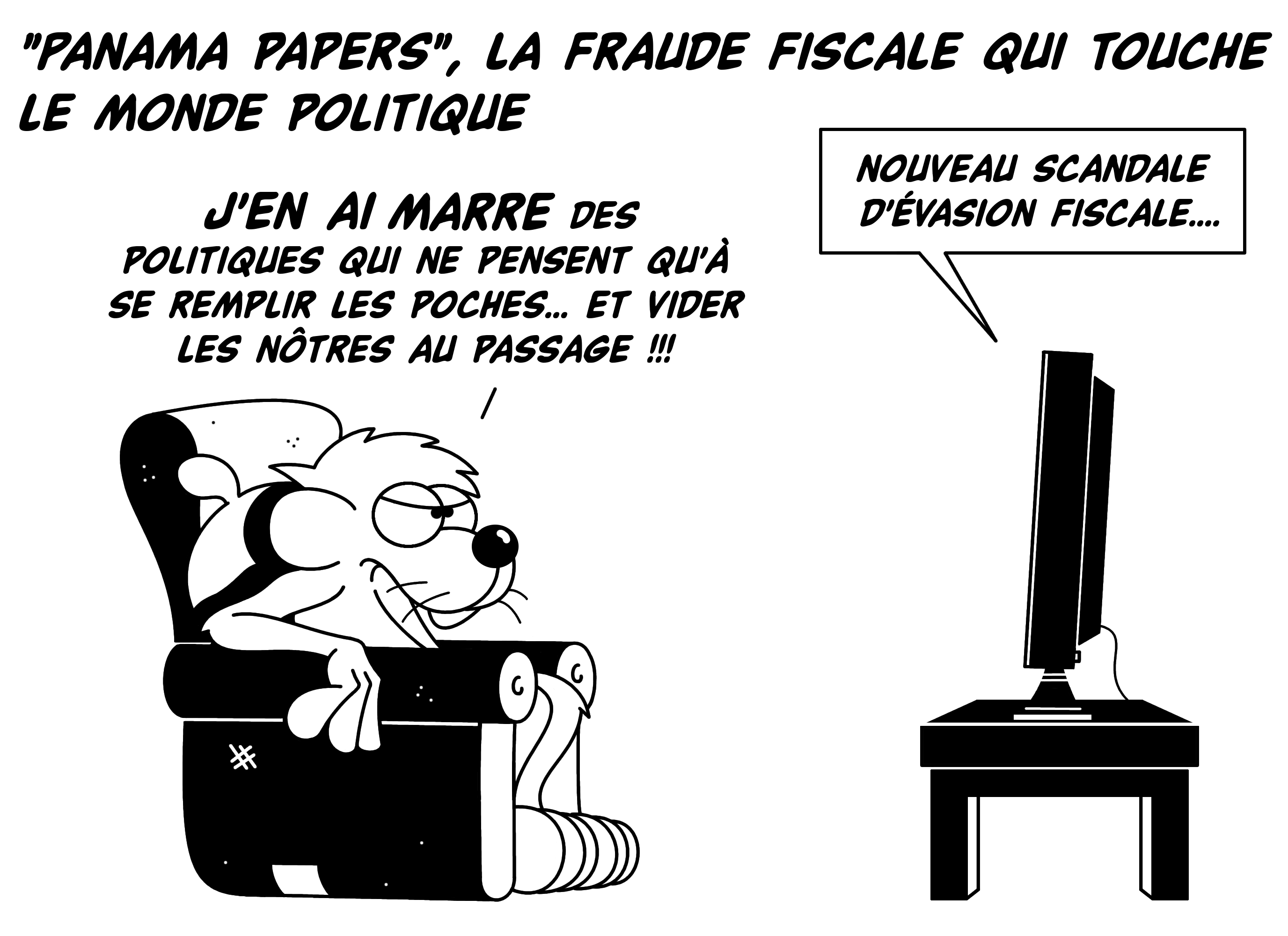 Dessin Panama Papers de Chag