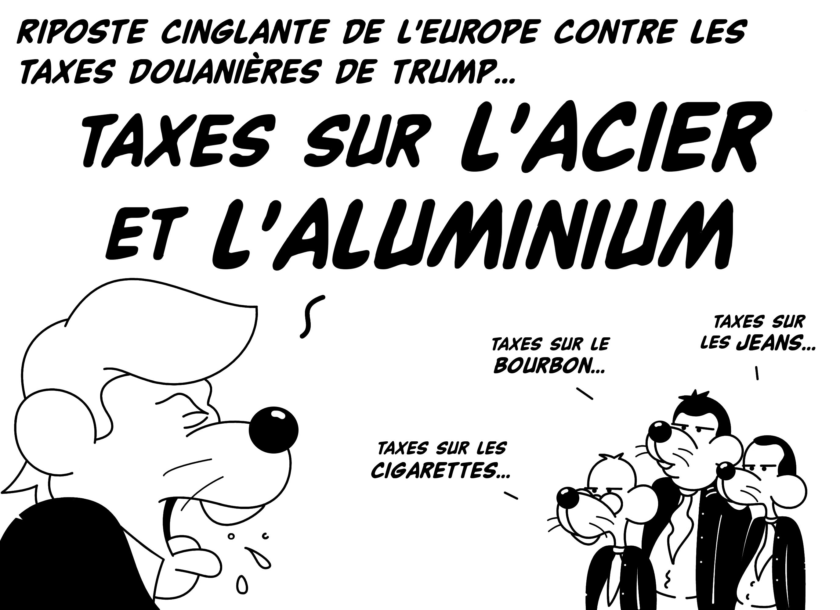 Dessin Taxes sur l'acier et l'aluminium de Chag