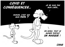 Dessin Covid et conséquences de Chag