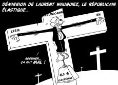 Dessin Démission de Laurent Wauquiez de Chag