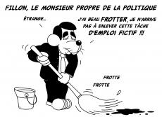 Dessin Fillon, le Monsieur Propre de la politique de Chag
