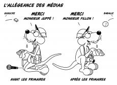 Dessin L'allégeance des médias de Chag