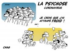 Dessin La psychose Coronavirus de Chag