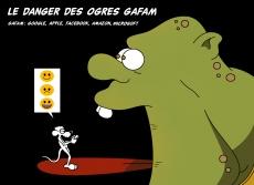 Dessin Les ogres GAFAM de Chag