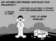 Dessin Les voitures électriques de Chag