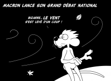 Dessin Macron lance son grand débat national de Chag