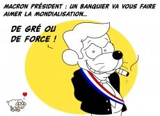 Dessin Macron président de Chag