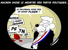 Dessin Meurtres en série : Emmanuel Macron de Chag