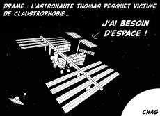 Dessin Thomas Pesquet claustrophobe de Chag