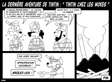 Dessin Tintin chez les wokes de Chag
