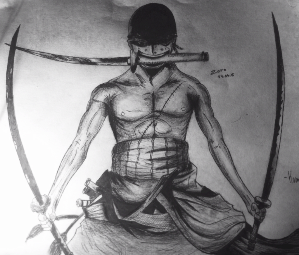 One piece roronoa zoro dab dessin - Coloriage one peace ...