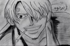 Dessin One Piece   SANJI de Kamii