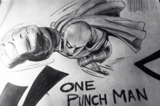 Dessin ONE PUNCH MAN! de Kamii