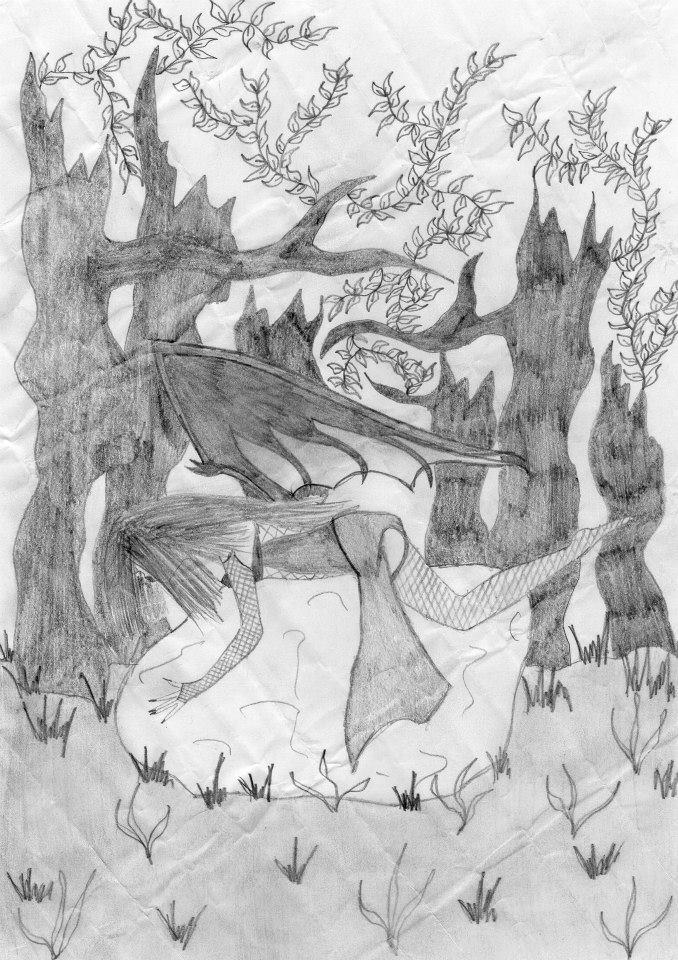 Dessin L'ange dans la forêt de Lubra