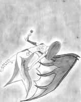 Dessin L'ange tomber du ciel de Lubra
