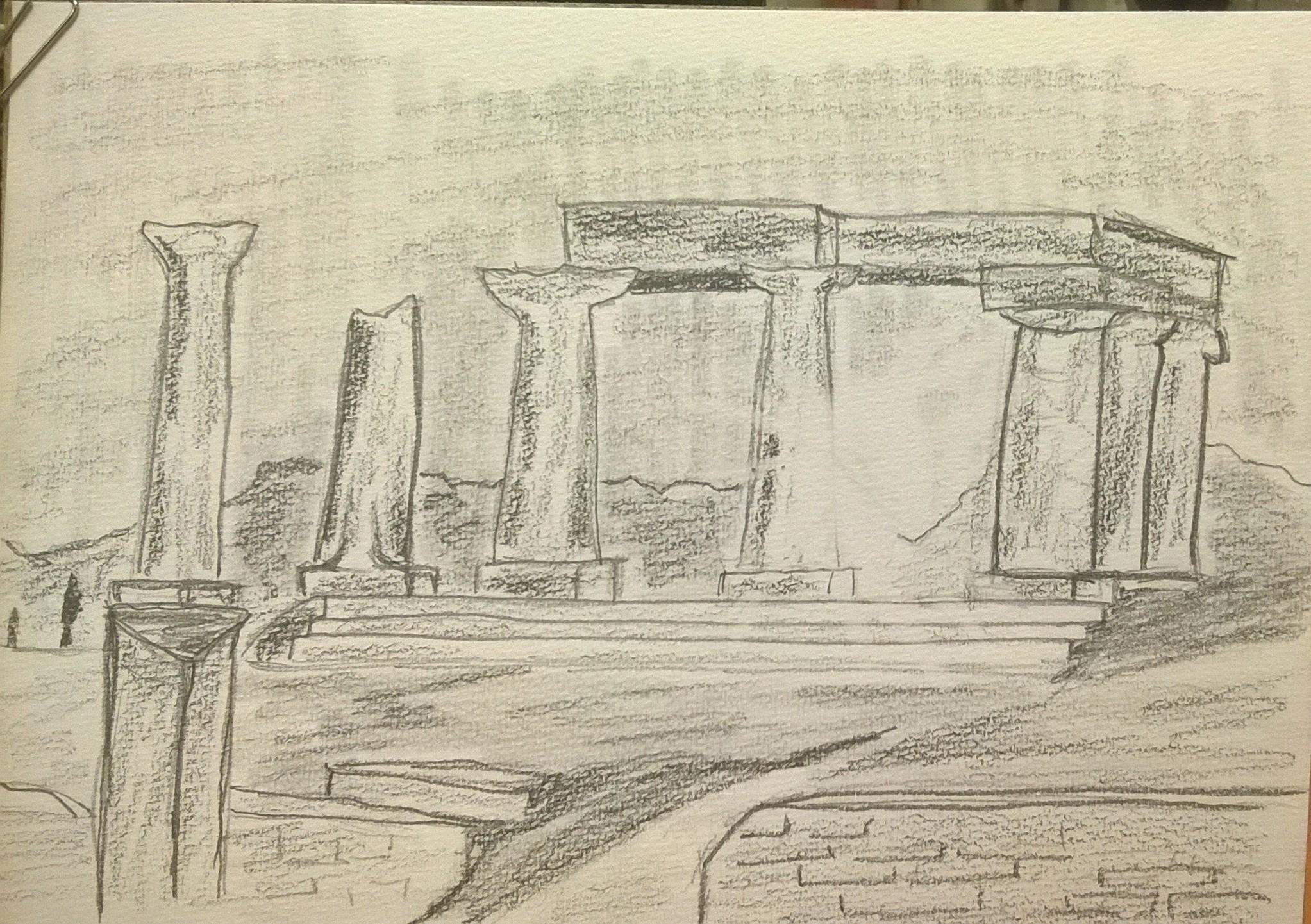 Dessin Ruine egyptienne de Claude16