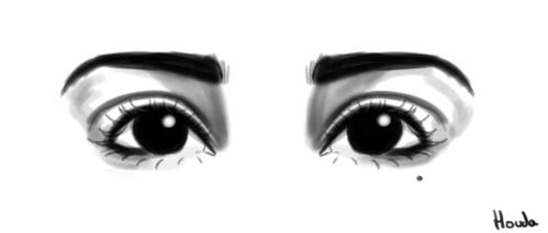 Dessin Eyes de HoudaArt