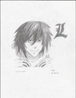 Dessin L, Death Note de Celya32
