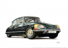 Dessin Citroën DS23 Pallas de AnthonyC