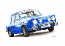 Dessin Renault 8 Gordini de AnthonyC
