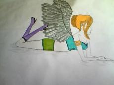 Dessin Ange moderne de Princesserosia