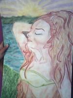 Dessin Femme au bord de l'eau de Princesserosia
