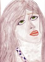 Dessin Femme triste pastel sec de Princesserosia