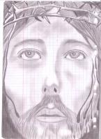 Dessin Portrait de jesus christ au crayon noir de Princesserosia