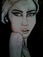 Dessin Portrait noir et blanc de Princesserosia