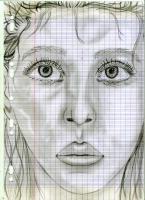 Dessin Portrait realiste crayon noir de Princesserosia