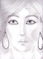 Dessin Portrait réaliste de jennifer lawrence . de Princesserosia