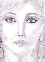 Dessin Portrait realiste de jennifer lawrence de Princesserosia