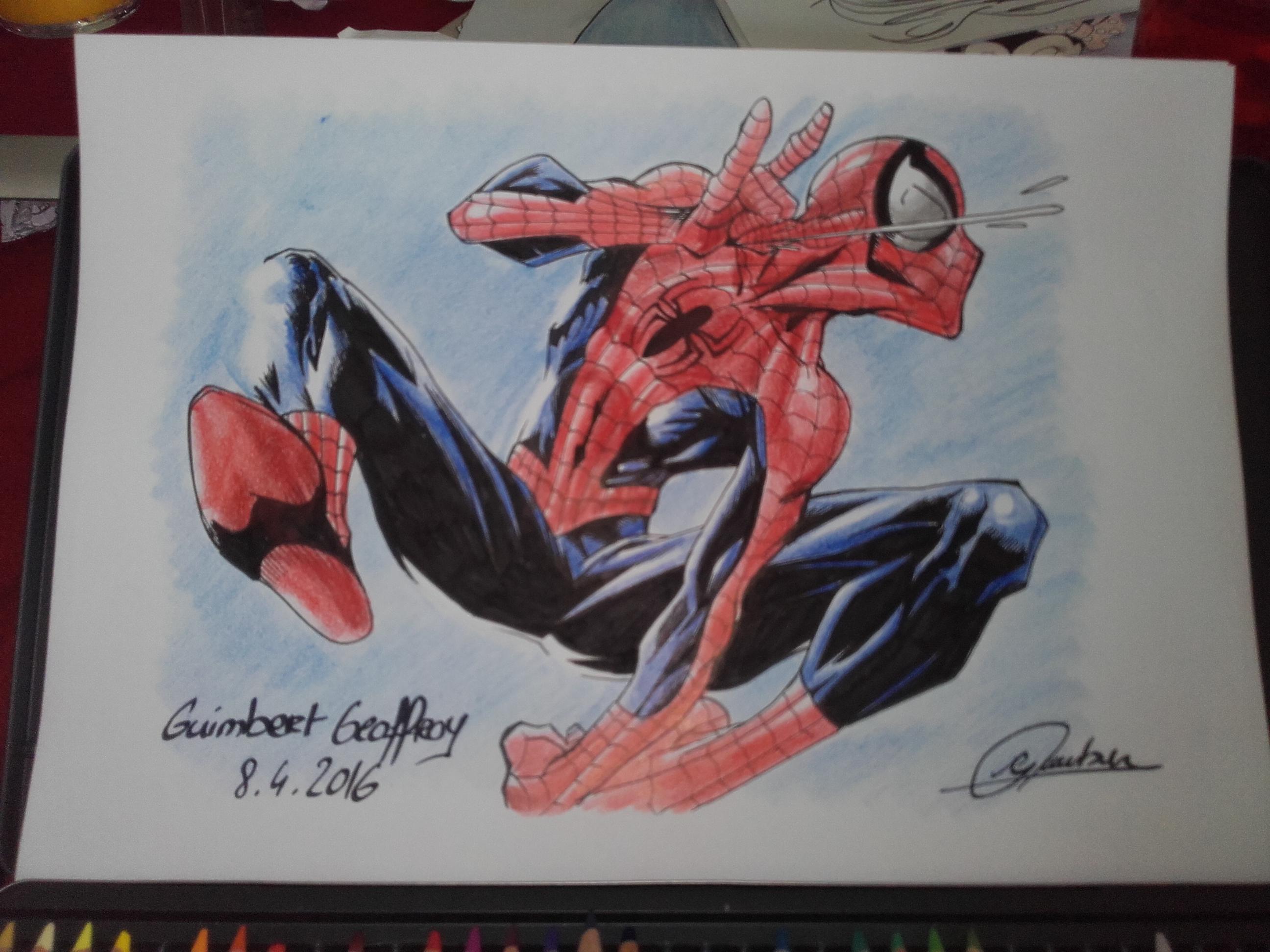 Dessin Un petit spiderman! Quand pensez vous? de Guimbertarts