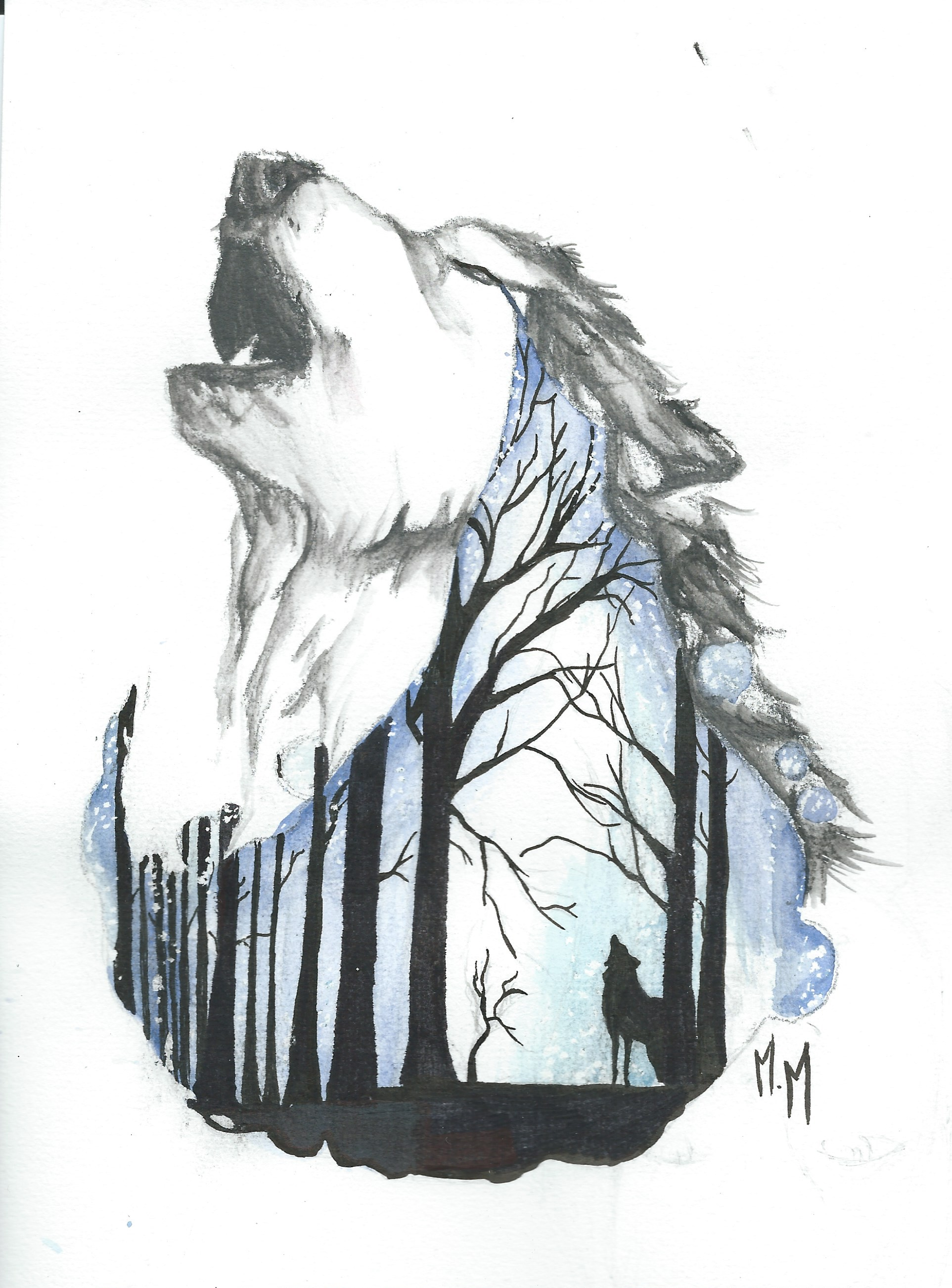 Dessin loup - Dessin de loup simple ...
