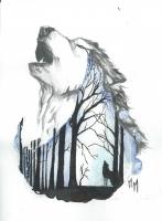 Dessin Loup de Musashi