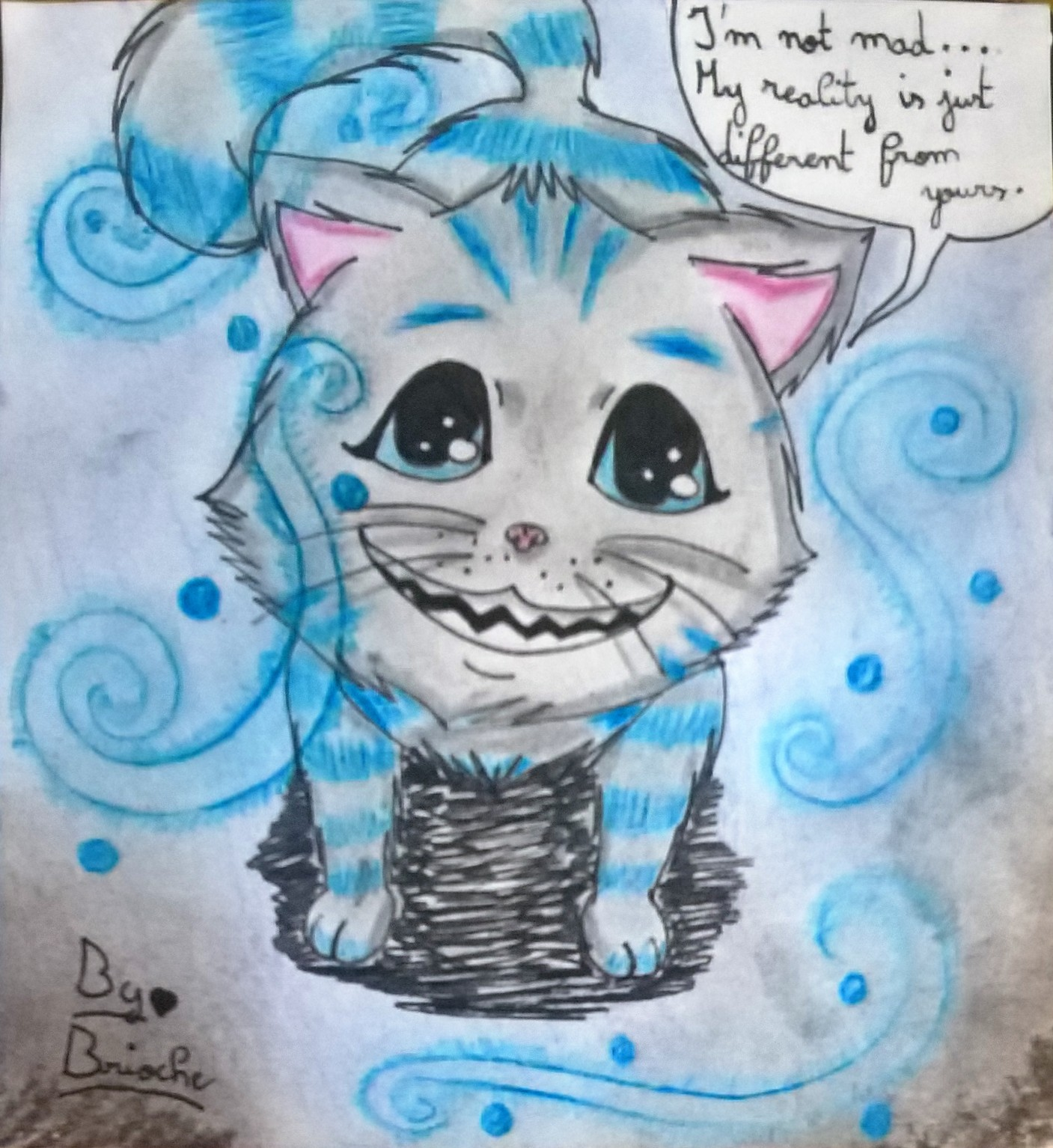 Dessin Chat De Cheshire Chibi Pencildrawing Fr