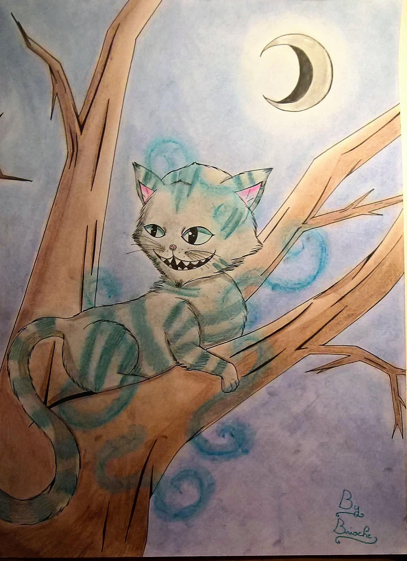 Dessin Chat de Cheshire de BridaKagamiku