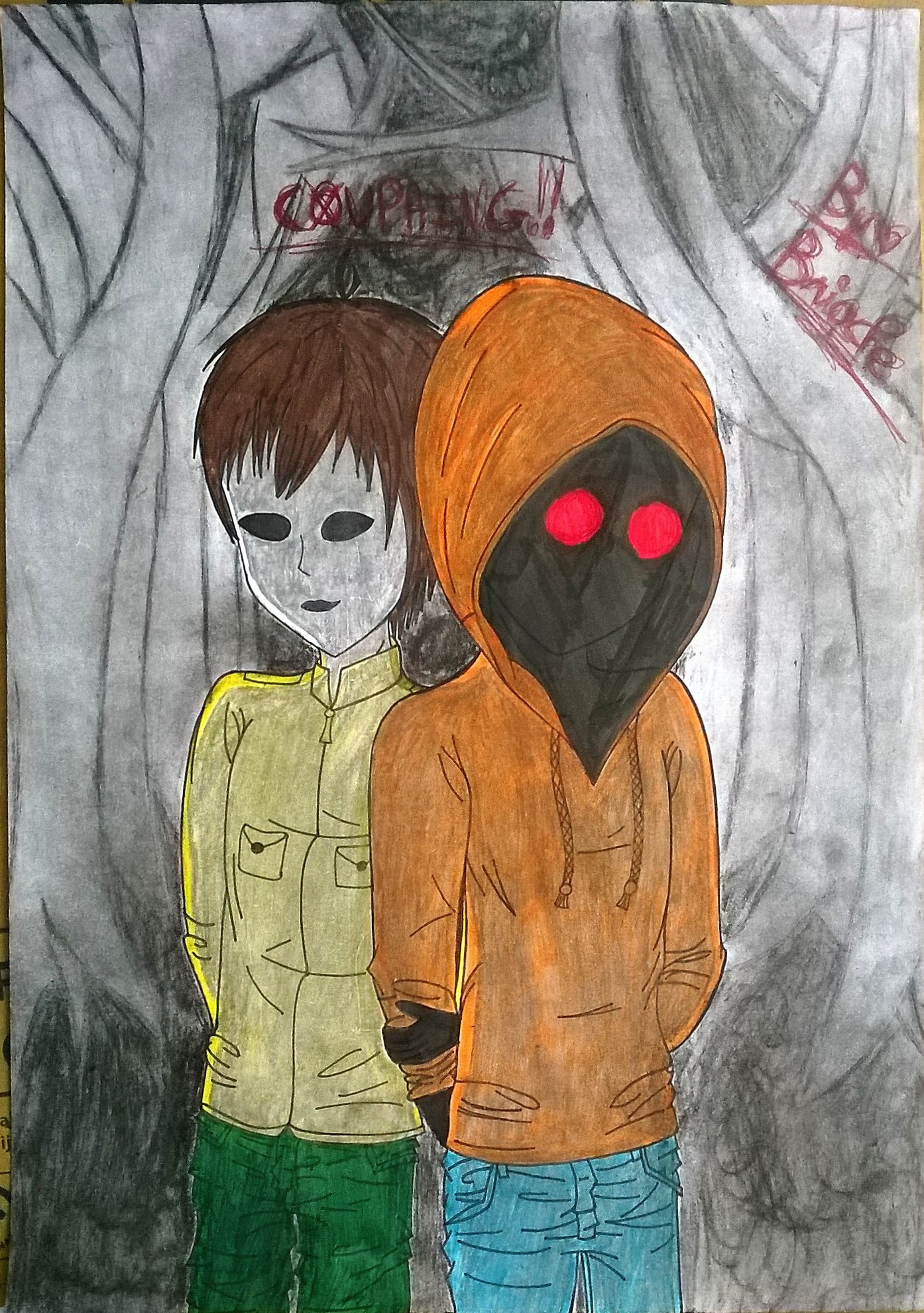 Dessin Hoodie et Masky de BridaKagamiku